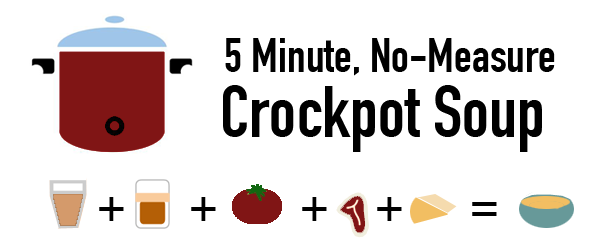 5 Minute No Measure Crockpot Soup leftovers