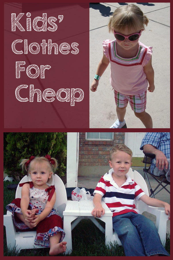 Save hundreds of dollars on your kids' clothes