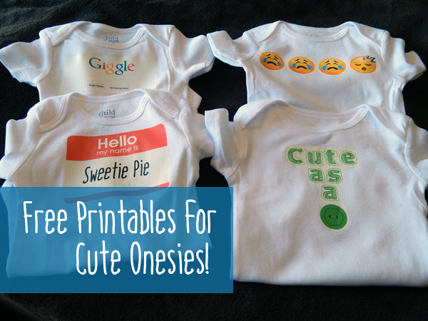 Free printable iron-ons for cute baby onesies!