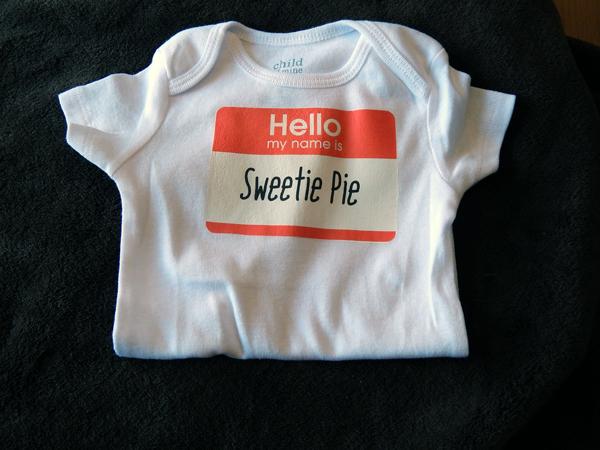 sweetie pie onesie