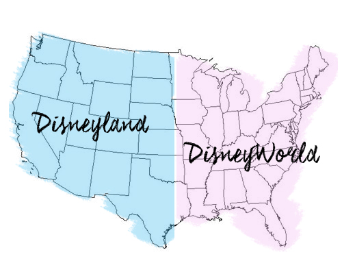 disneyland-world map